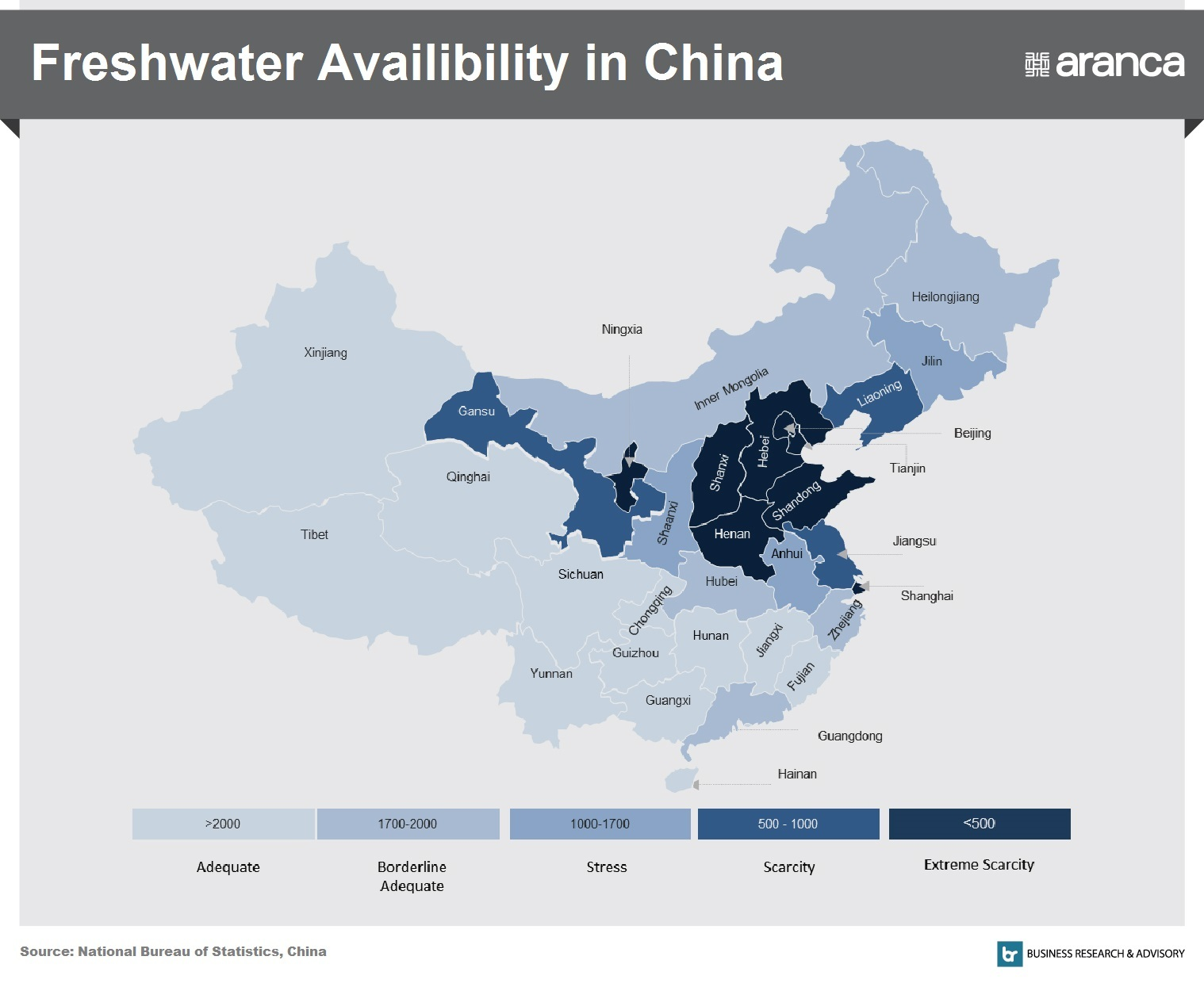 Freshwater Availability in China